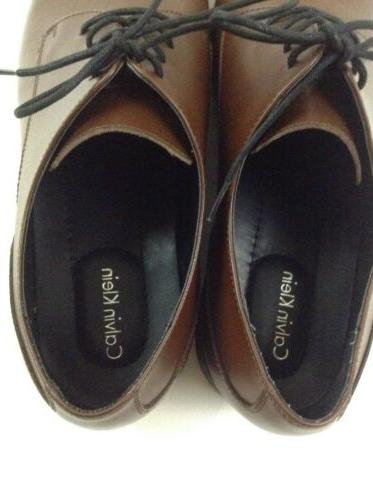 Calvin Brown Leather Shoes Size 16