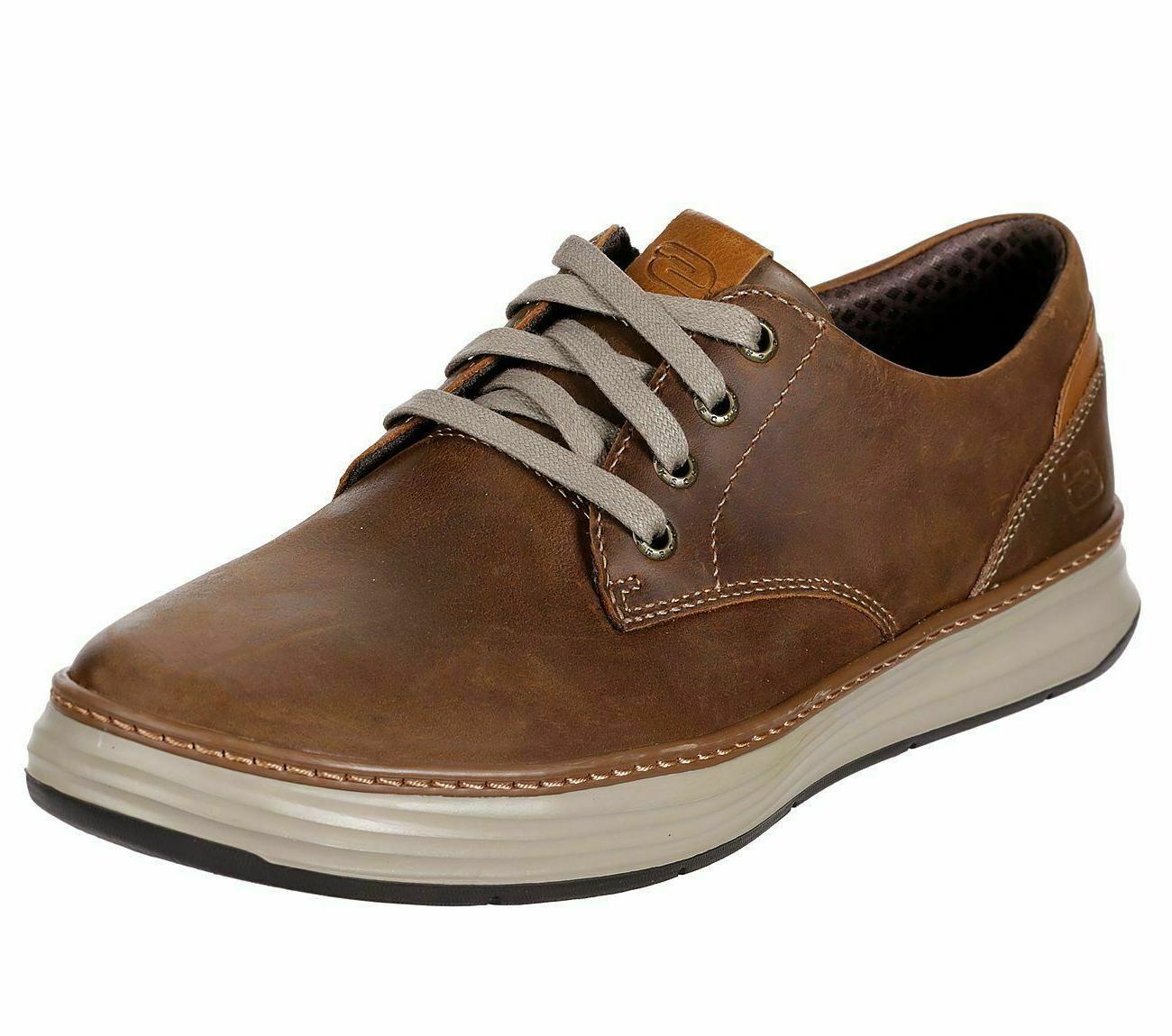 Skechers Brown Leather Men Memory Casual Oxford