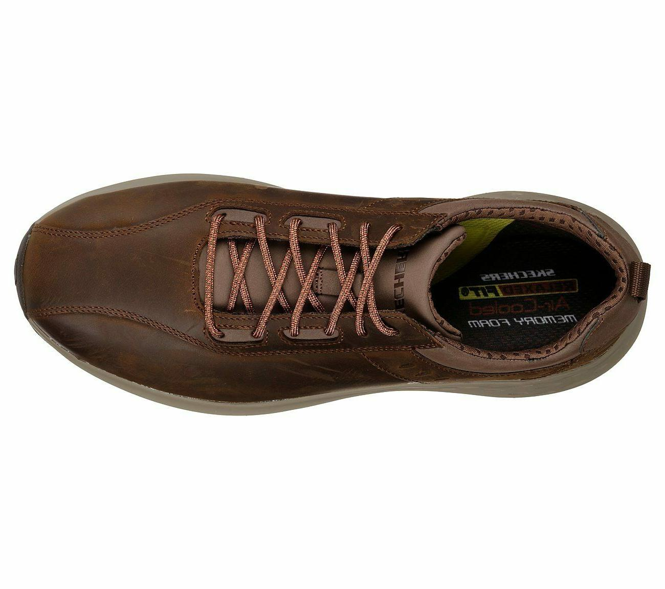 Skechers Memory Sporty Casual Comfort Leather Oxford