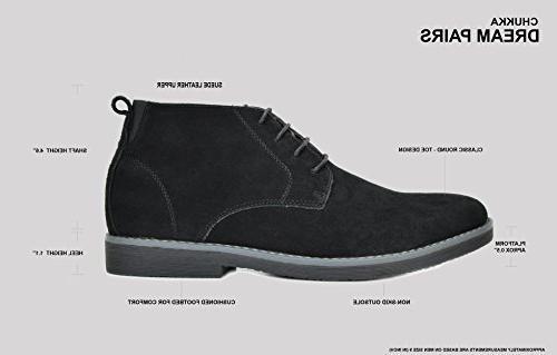 Bruno Marc Men's Navy Suede Leather Chukka Desert Boots - 9.5 M