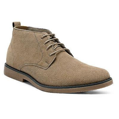 bruno marc men s chukka camel suede