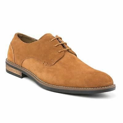 Classic Men's Suede Leather Lace Casual Round Toe Oxfords US