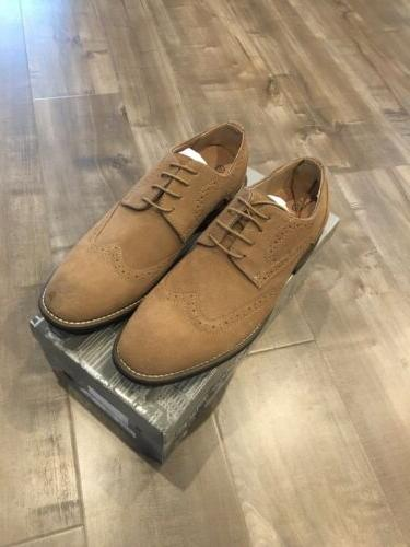 Bruno Men's Tan Suede Leather Up Shoes - 10.5