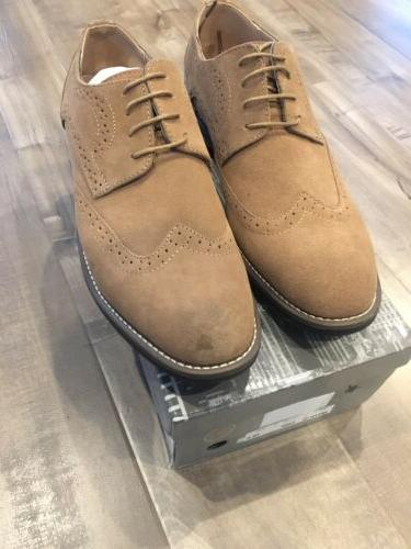 Bruno Tan Suede Up Shoes 10.5