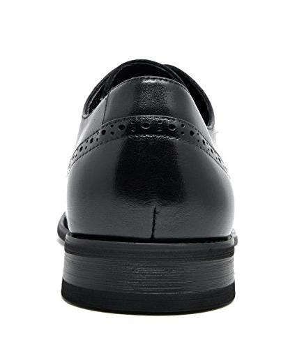 Bruno Marc Men's Washington-5 Black Leather Lined Oxfords Shoes - M