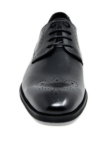 Bruno Black Leather Oxfords - M