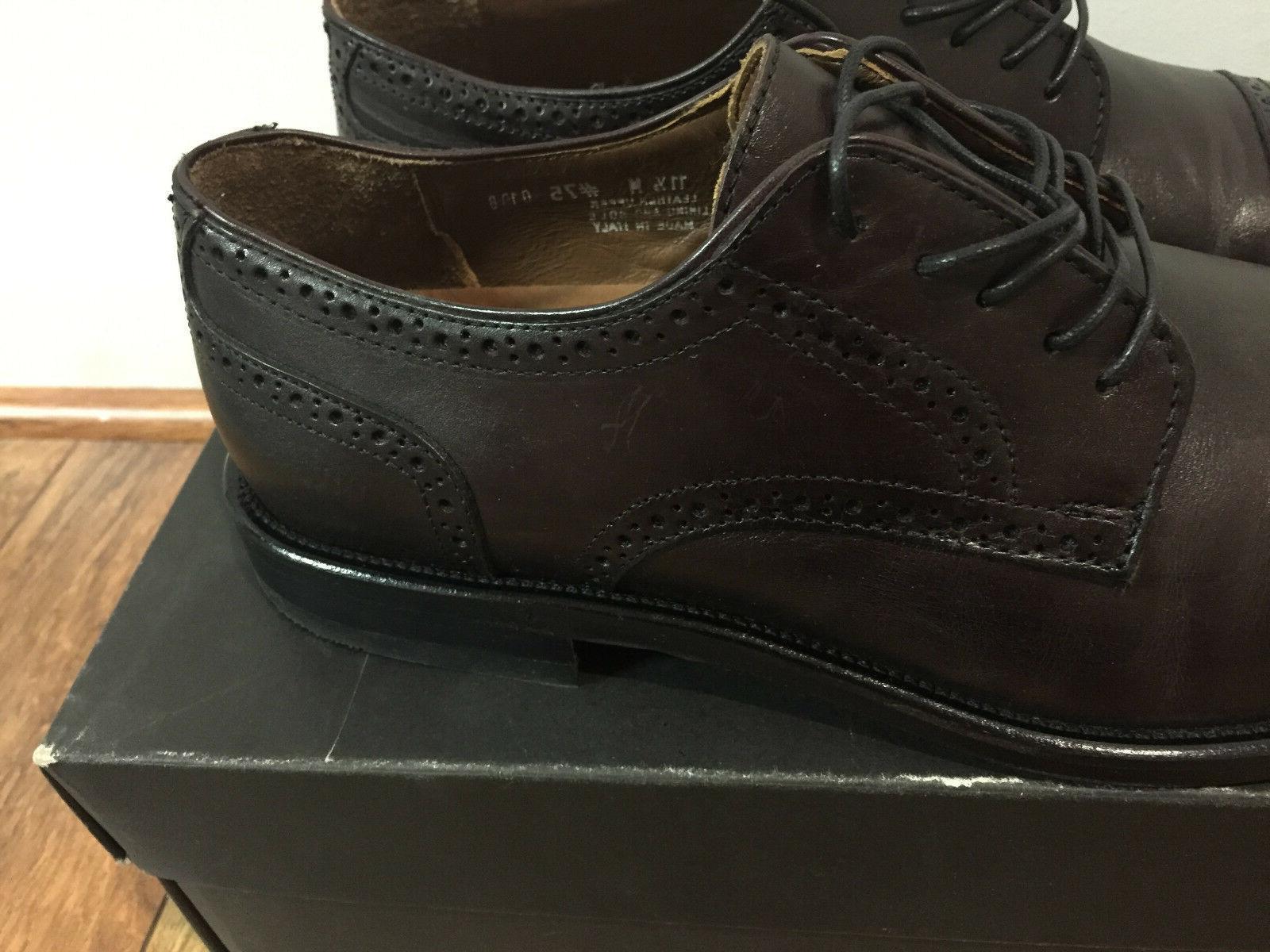 Bostonian Burgundy Oxford Dress Shoes 24017, Size