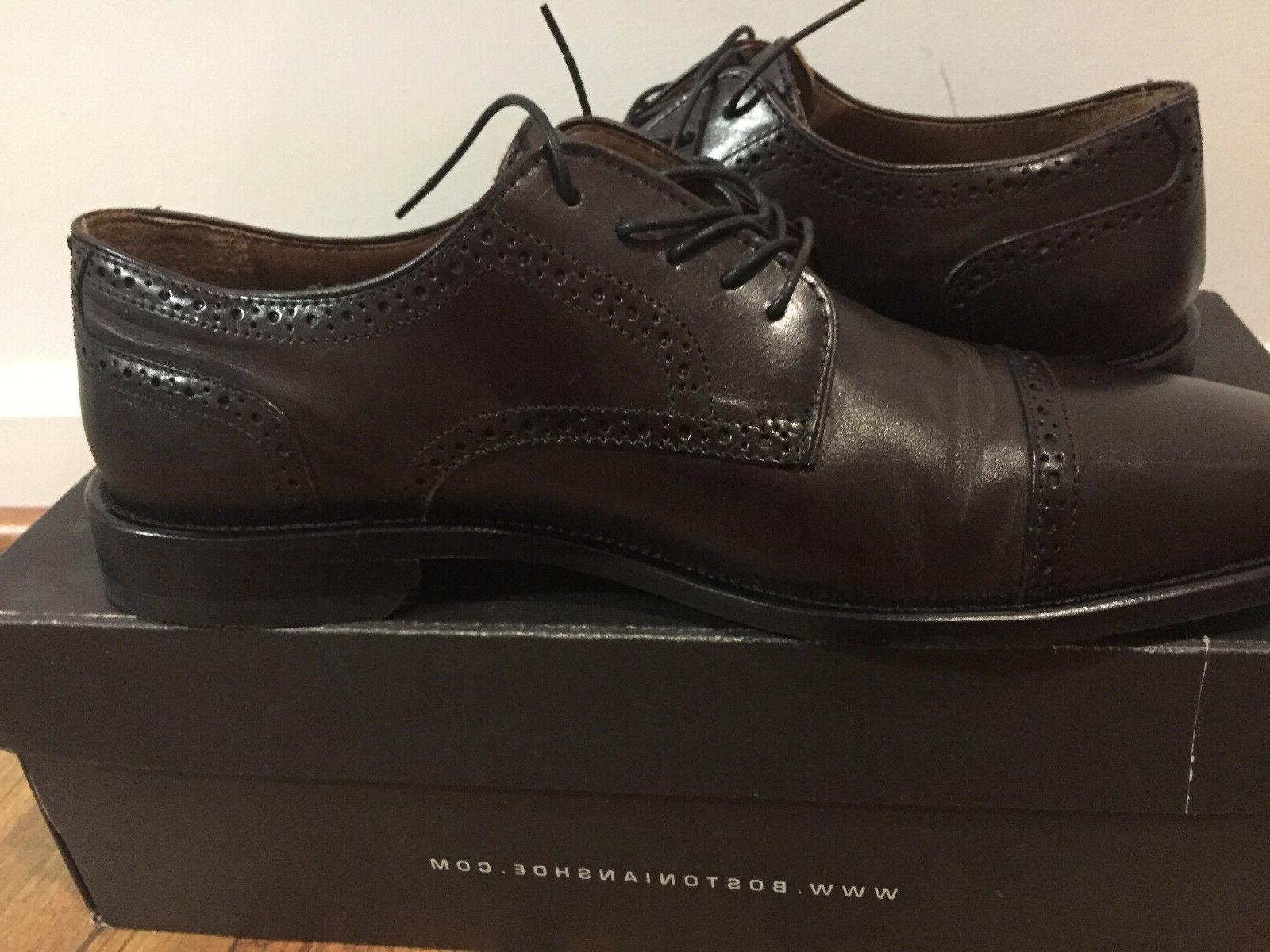 Bostonian Burgundy Brown Leather Oxford 24017, Size