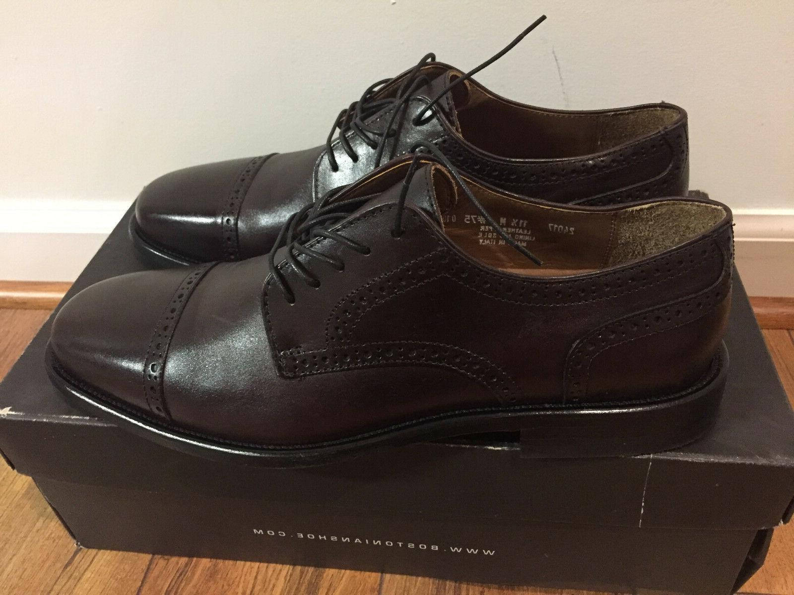 burgundy brown leather oxford dress shoes 24017