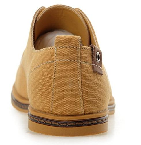 DADAWEN Oxford Casual Camel US Size 6.5