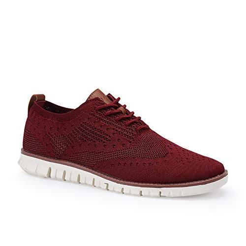 XIPAI Mens Casual Shoes Mesh Wingtip