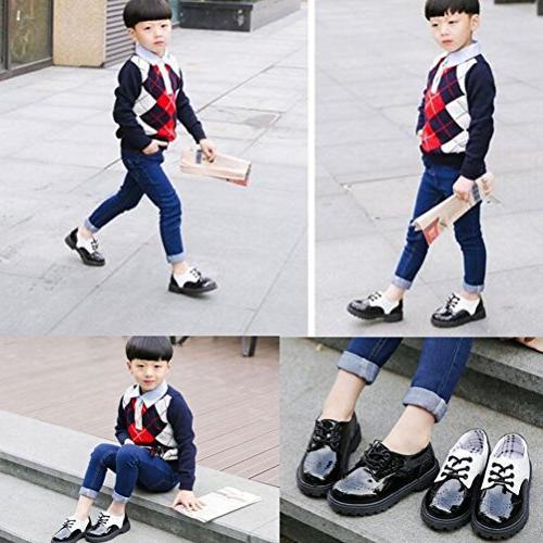 DADAWEN Children's Boy's Oxford Shoe and Size 5.5 M Toddler