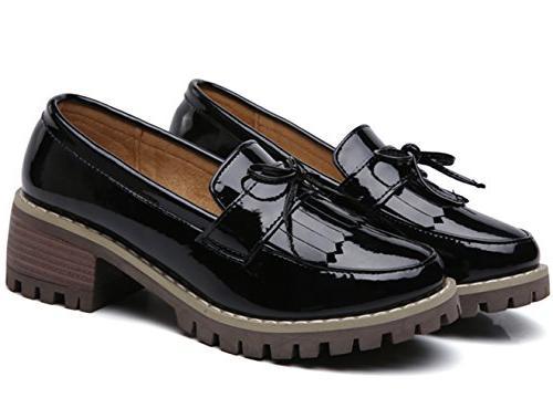 Slip-On Toe Oxfords Dress Black US