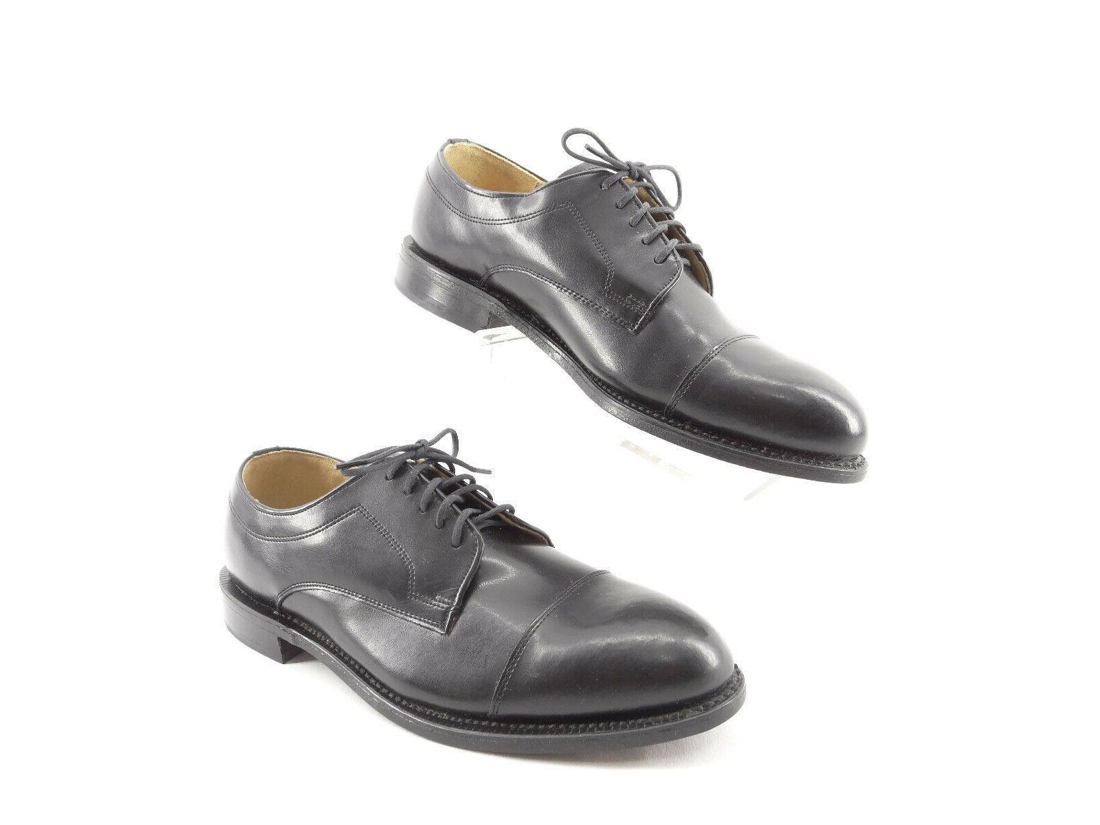 Dexter Black Leather Cap Toe Mens Shoes Size M
