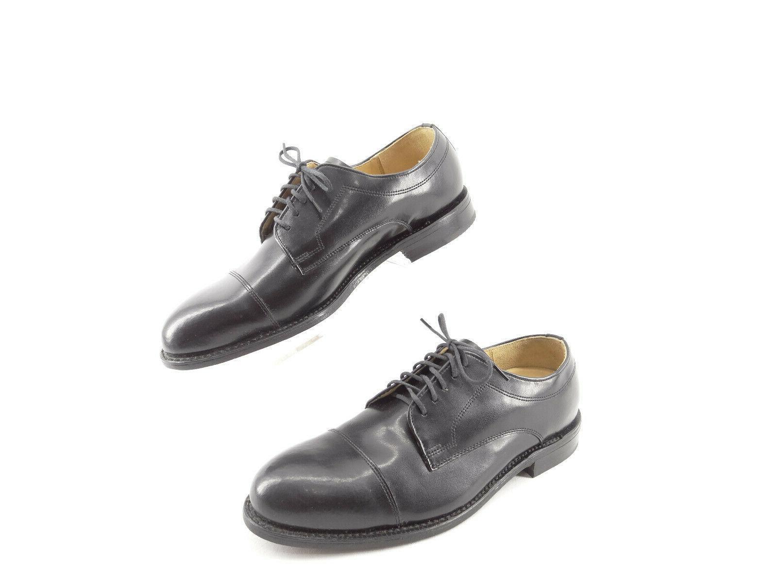 comfort black leather cap toe oxford dress