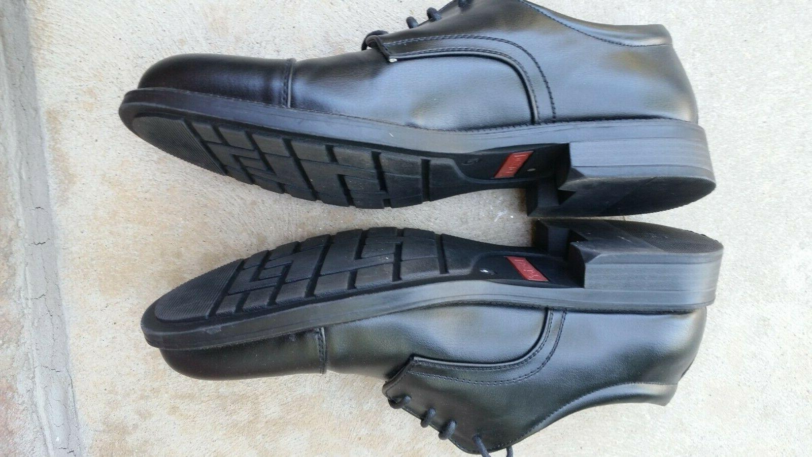 Dexter Comfort Foam Men's 10.5 Black Oxford Dress Shoes Toe