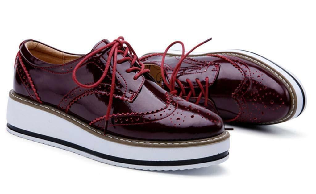 DADAWEN Wingtips Toe Shoe