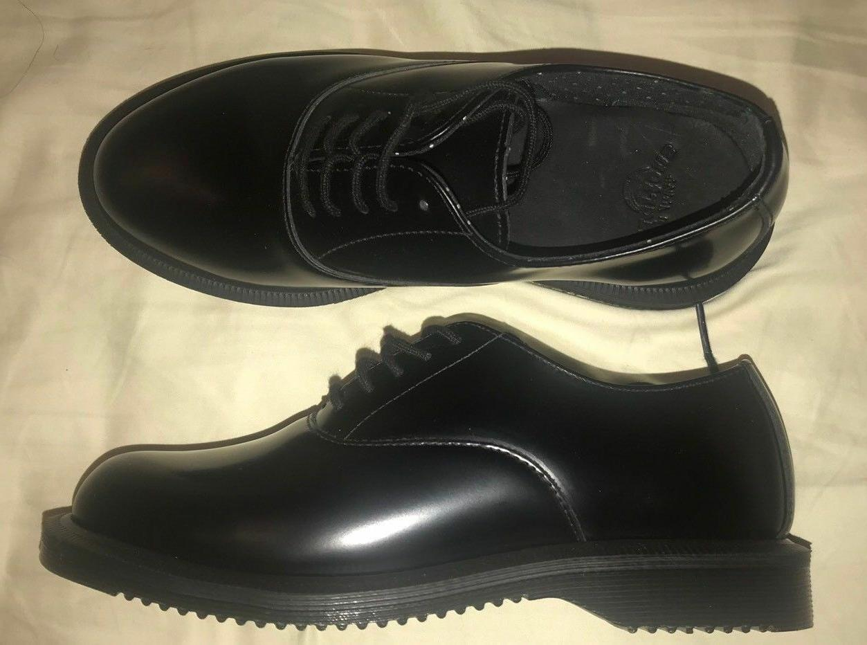 Dr Martens 5-Eye Black Polished Smooth Air Wair Shoe
