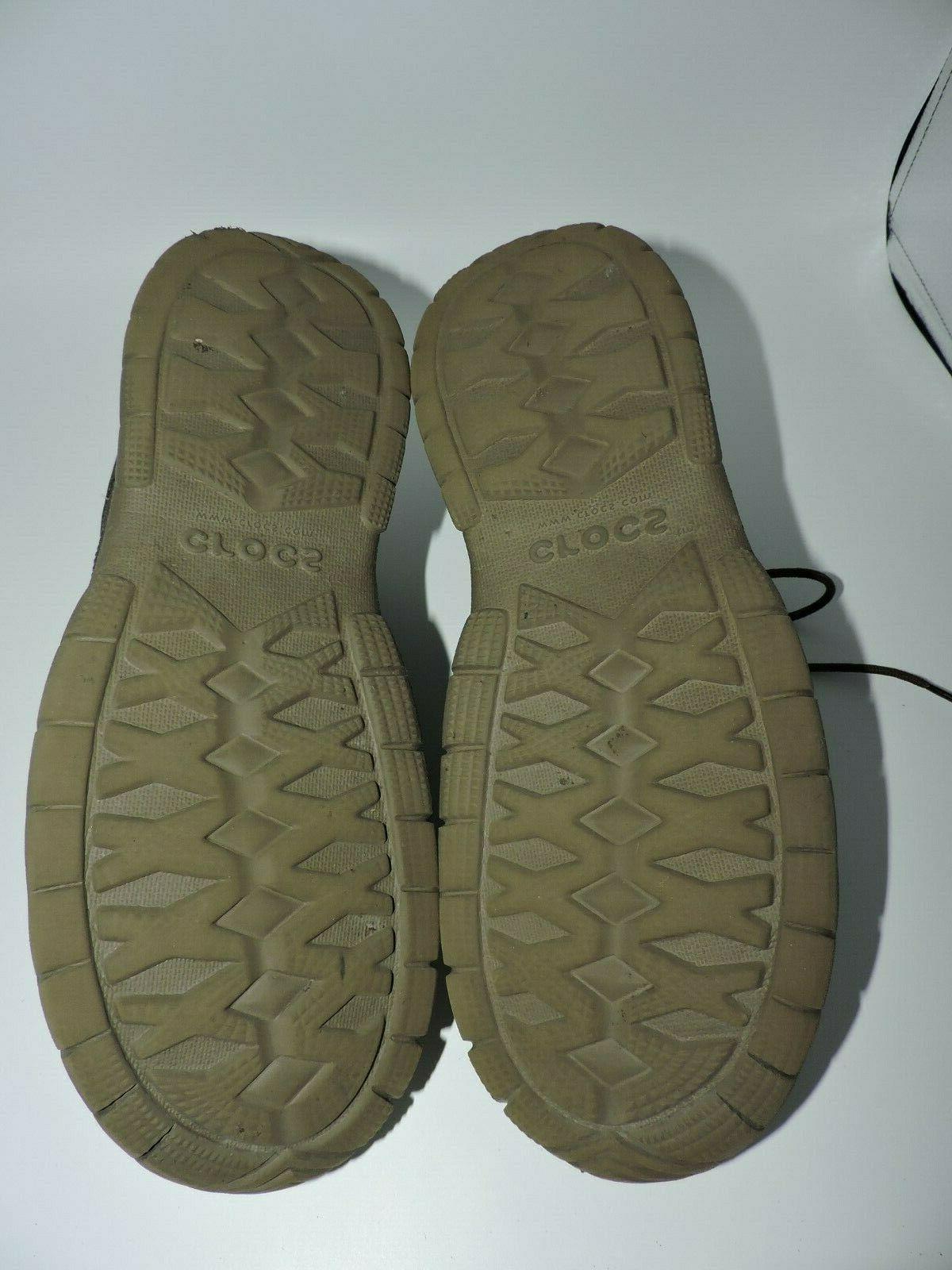 Crocs Mens Lace Shoes Brown