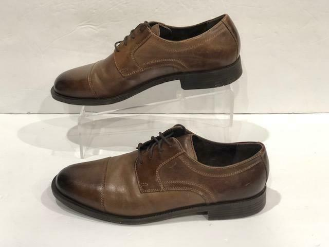 dustin cap toe oxford brown leather dress