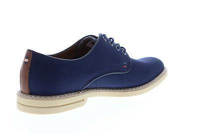 Tommy TMENGLE2 Blue Canvas Plain Toe Oxfords Shoes 13