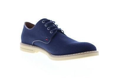 TMENGLE2 Mens Blue Plain Toe Oxfords 13