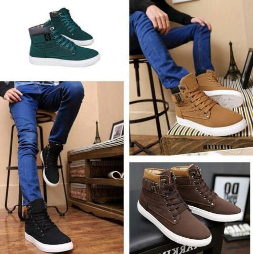Fashion High Top Shoes Leather Shoes