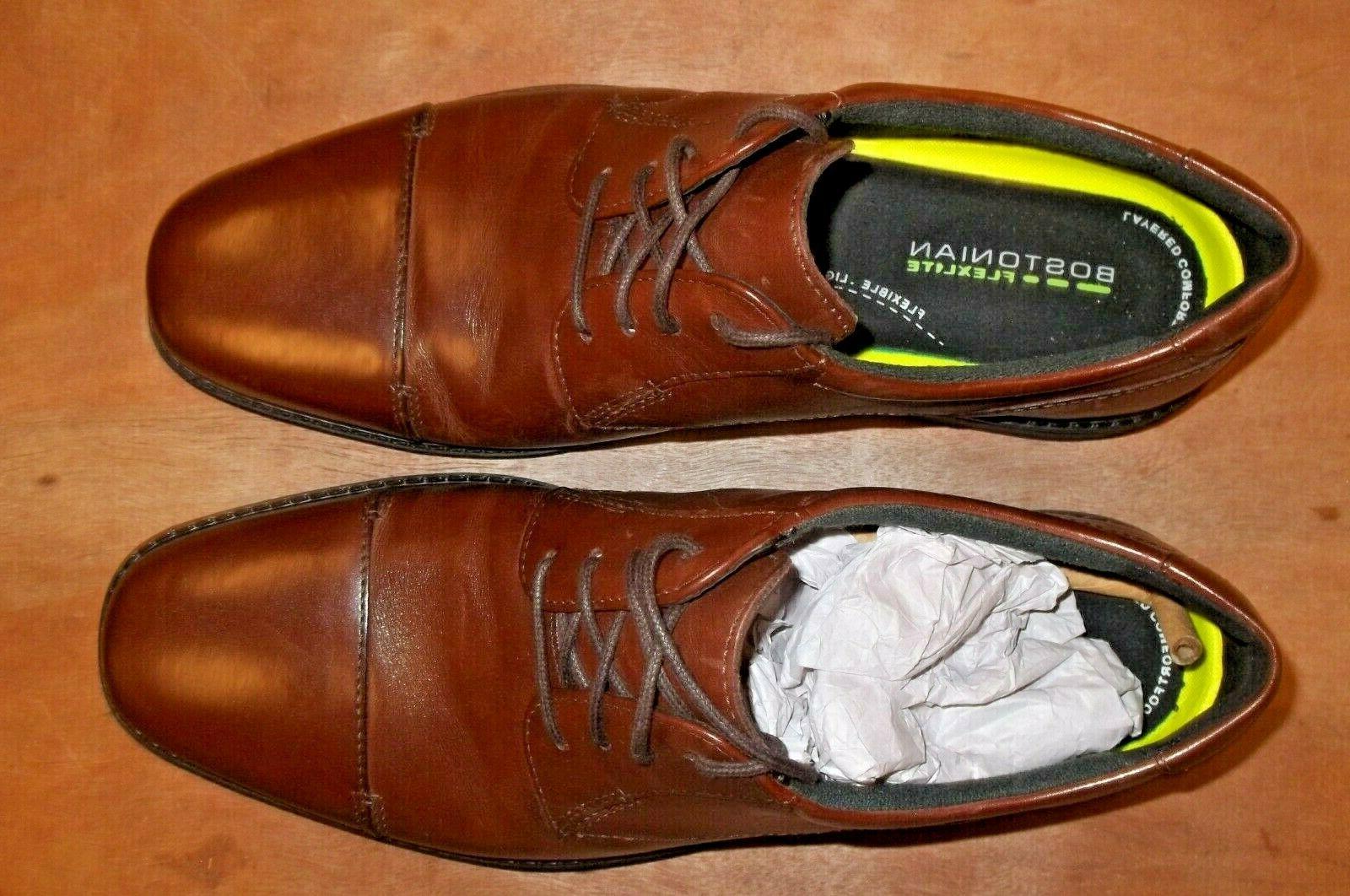 BOSTONIAN Flexlite Leather Up Men's Size New