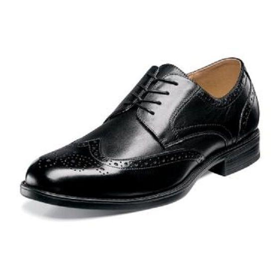Florsheim Men's Shoes Midtown Wingtip Oxford  Black Leather