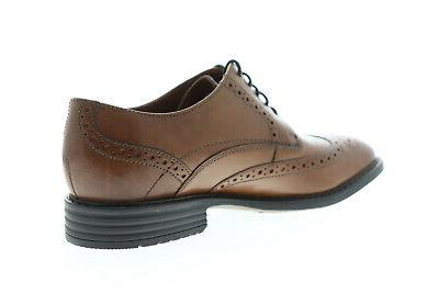 Bostonian Garvan Edge Mens Brown Lace Up Oxfords Shoes