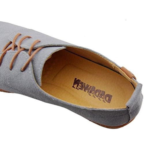 Dadawen Men's Grey Leather Oxford - 10 D US