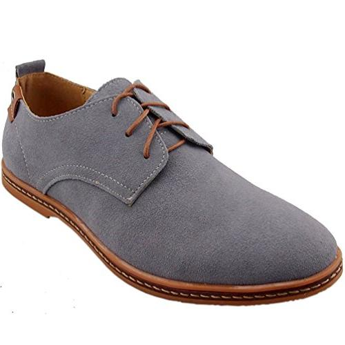 grey leather oxford