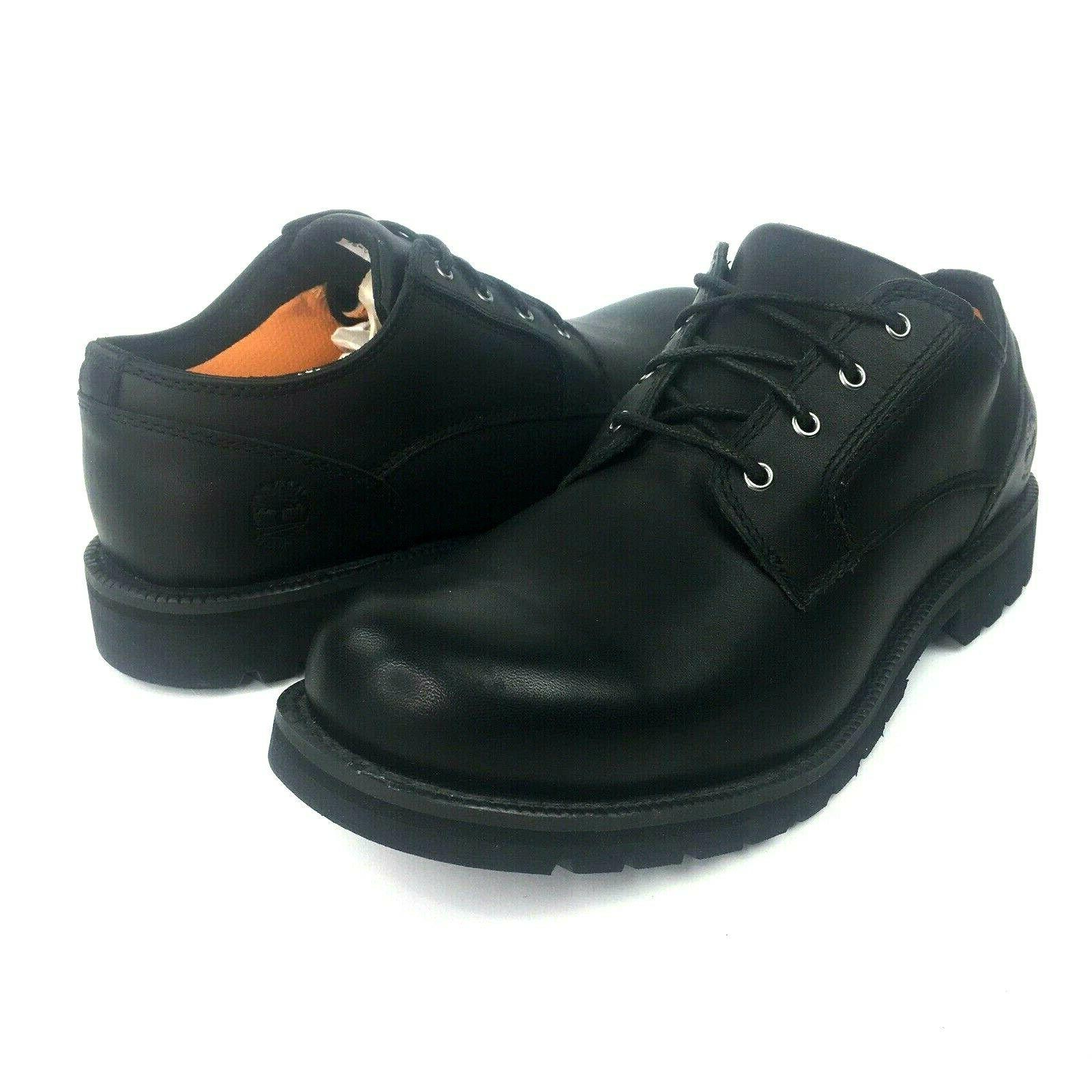 hartwick mens black leather waterproof oxford lace