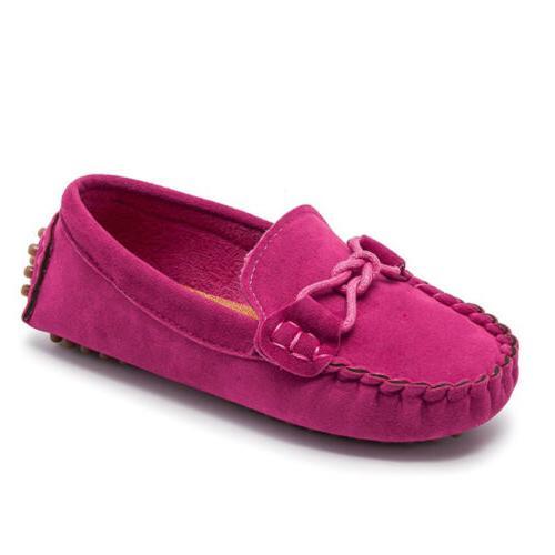 Kids Boys Girls Loafers Oxford Shoes Slip On Moccasins