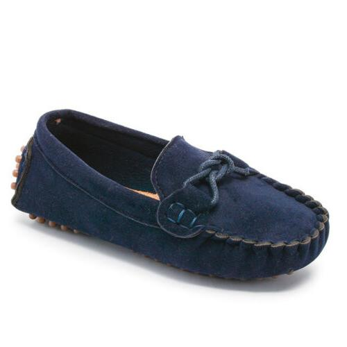 Kids Girls Loafers Oxford Shoes Toddler On Moccasins