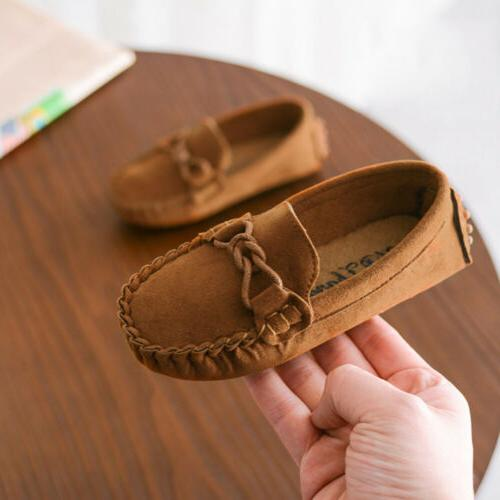 Kids Loafers Oxford Flats Shoes Toddler Slip On Moccasins
