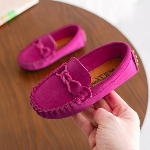 Kids Boys Girls Loafers Casual Shoes Toddler Slip On Moccasins