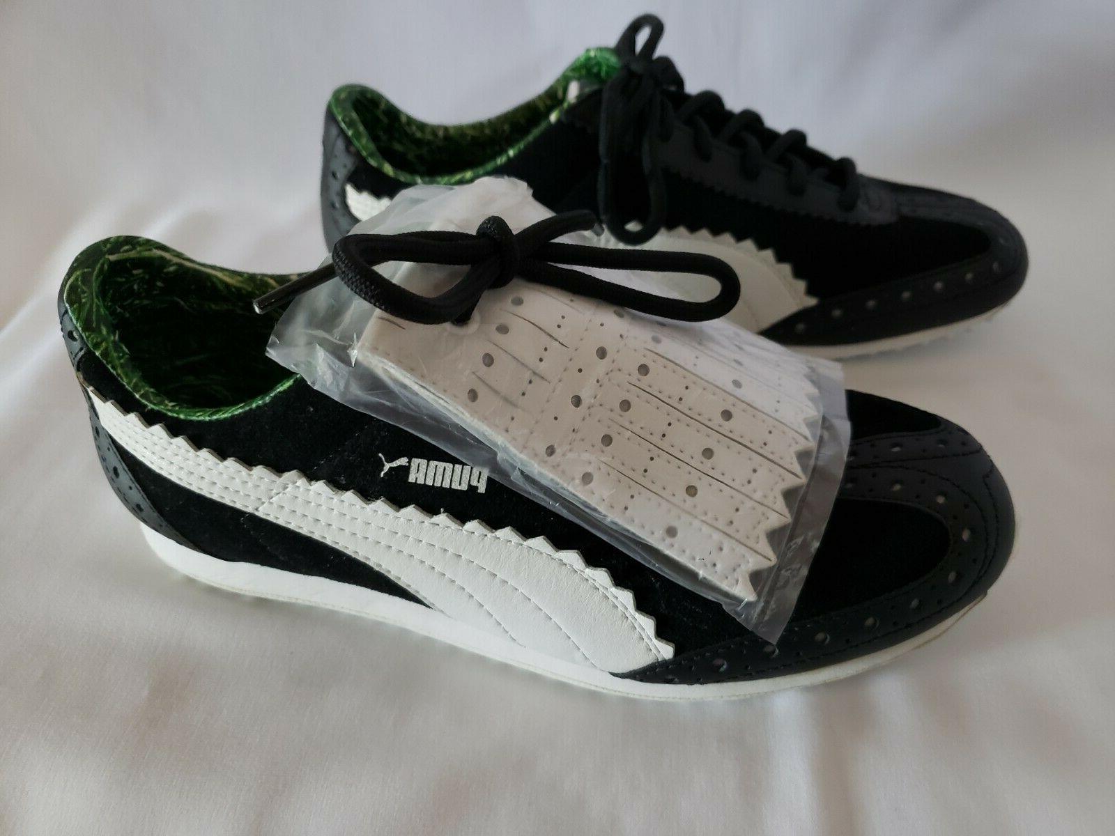 PUMA Ladies Black Whte Oxford /Golf Shoes 8