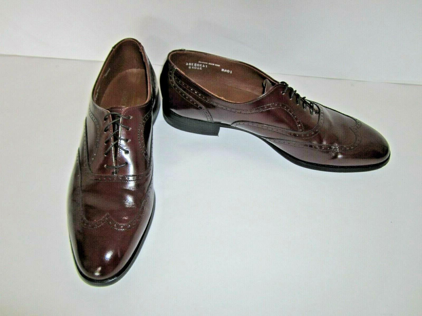 Leather Wingtip 10.5 Width Made in