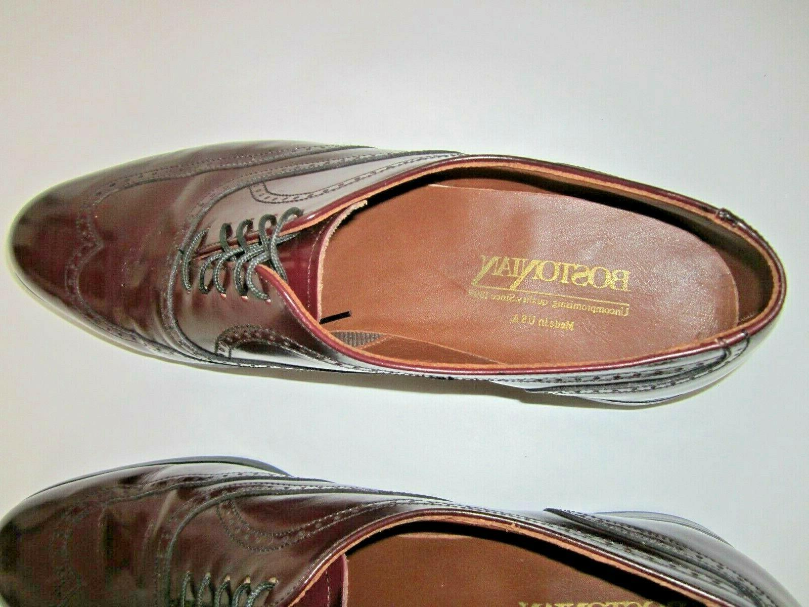 Leather Wingtip Oxford 10.5 N Width in USA
