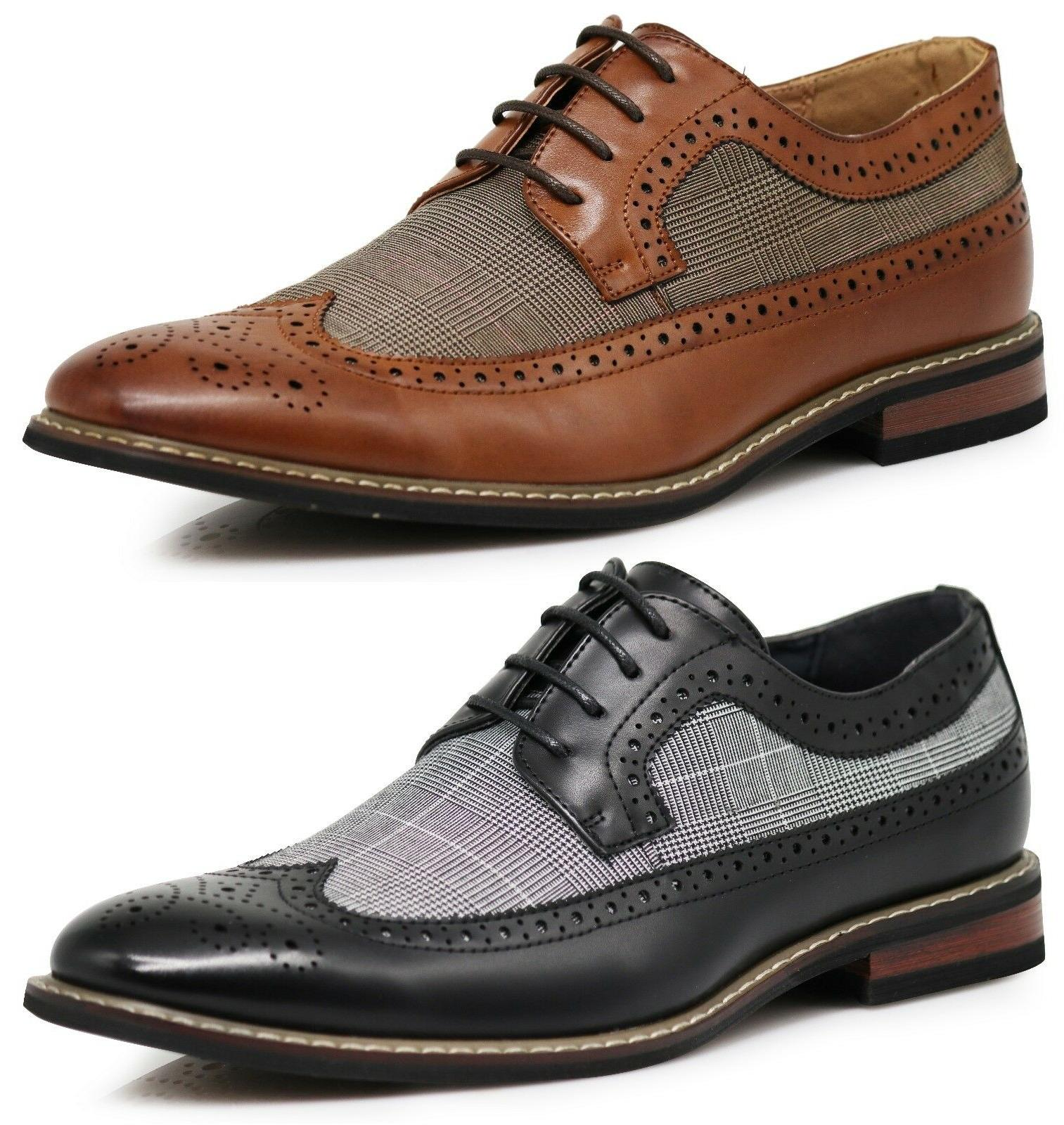 men dress shoes wingtip oxford leather lined