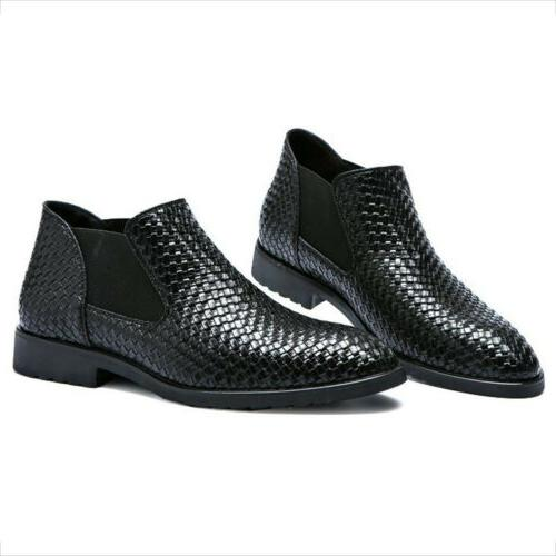 Men's Leather Boots Oxford Dress Formal Chelsea Boots