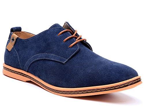men s blue leather oxford shoe 8