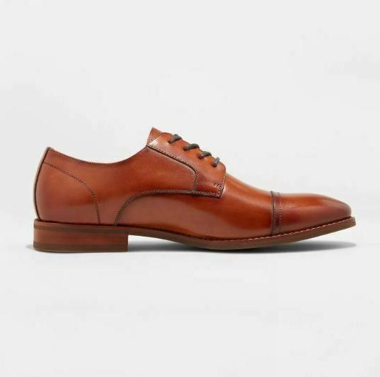 Men's Leather Toe Oxford - Goodfellow Tan Brown