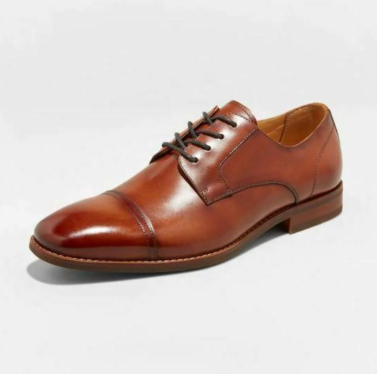 men s brandt leather cap toe oxford