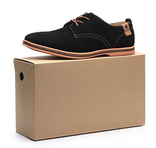 Dadawen Men's Leather Oxford Shoe 12 D