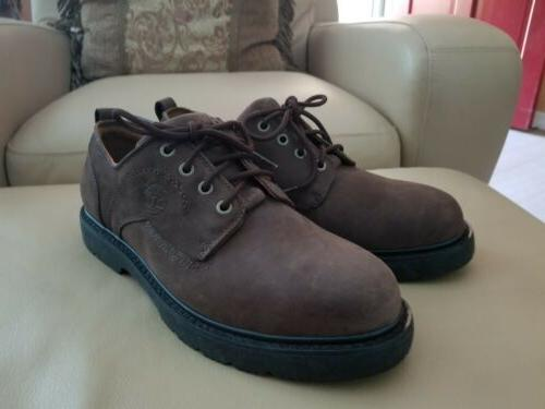 men s brown leather waterproof oxfords shoes