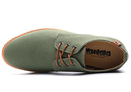 DADAWEN Lace Up Oxfords Green Size