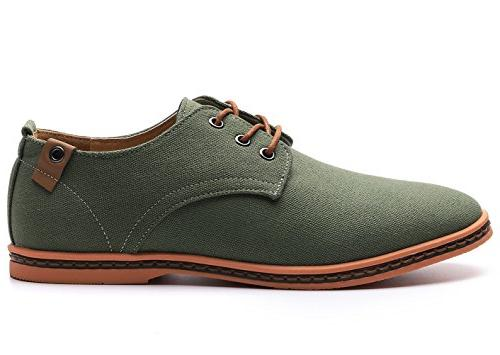 DADAWEN Lace Up Oxfords Green US Size
