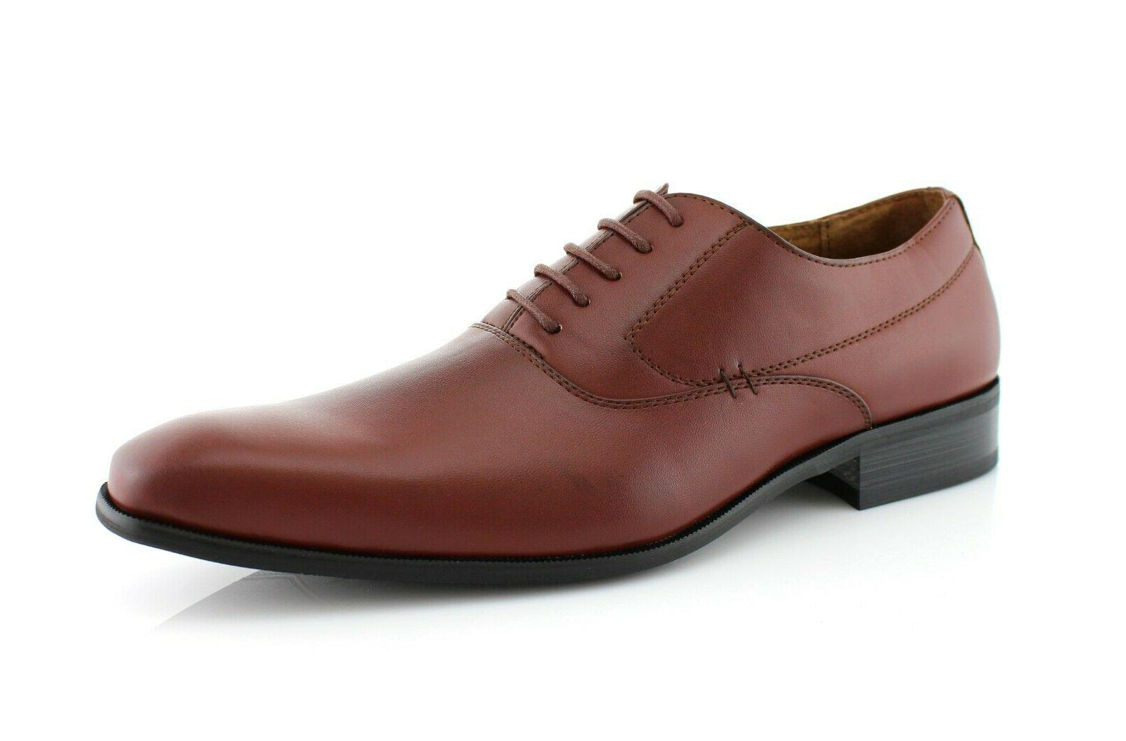 men s casual leather oxford lace up